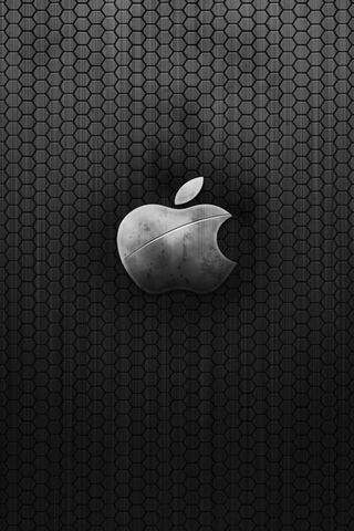 Vintage Metal Apple