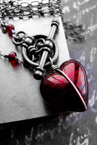 Phoneky قلب كبير أحمر Hd خلفيات