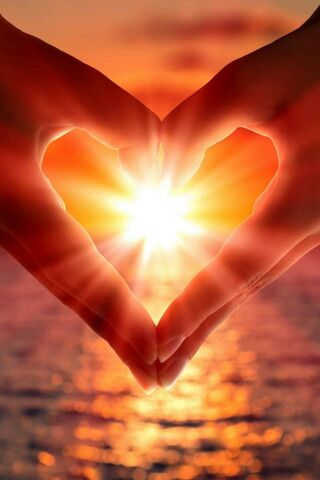 Coucher de soleil avec amour