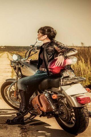 Girl Motorcycle