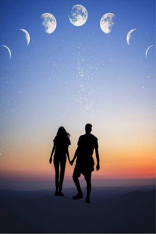 Couple N Night Sky