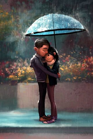 Lovers Under Rain