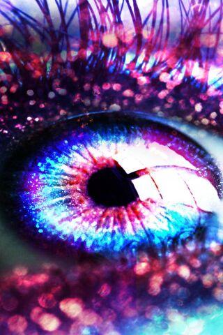 Pink Glitter Eye