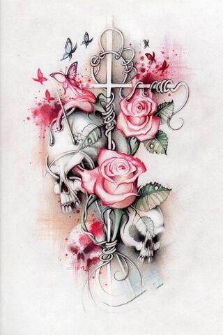 Tengkorak dan Mawar