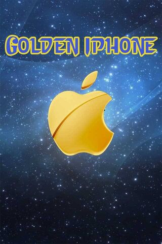 गोल्डन आयफोन लोगो 1