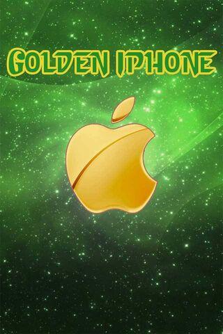 गोल्डन आयफोन लोगो 3