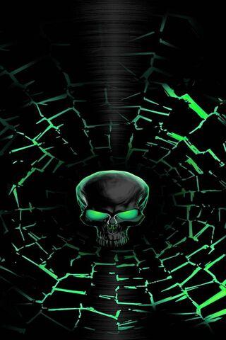 Neon Green Skull