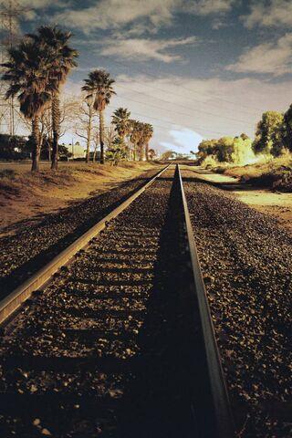 Đường ray xe lửa Retro