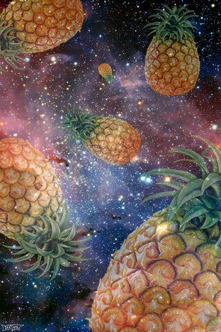 Abacaxis espaço