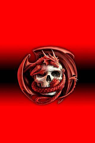 Red Dragon-Skull