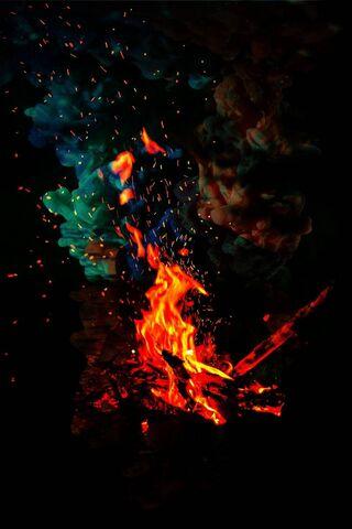 Fuego de humo
