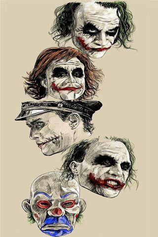 जोकर कई चेहरे