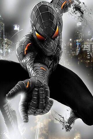 الرجل العنكبوت الأسود الخلفية تحميل إلى هاتفك النقال من Phoneky