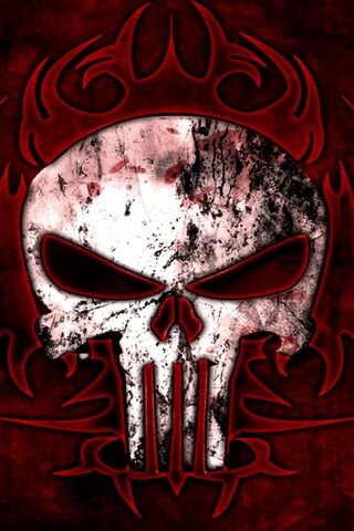Punisher Red Tribal