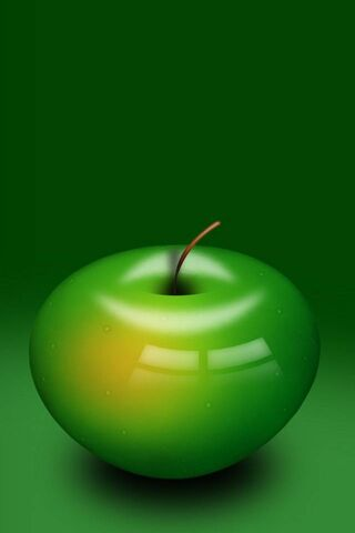3D Green Apple