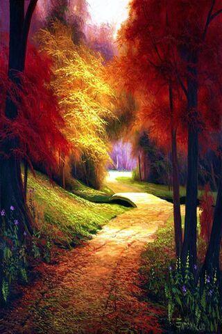 foto de Parc d'automne Fond d'écran - Télécharger sur votre mobile depuis ...