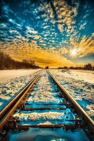 Kereta Api dan Salji