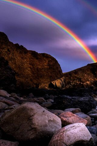 Rainbow On The Beach