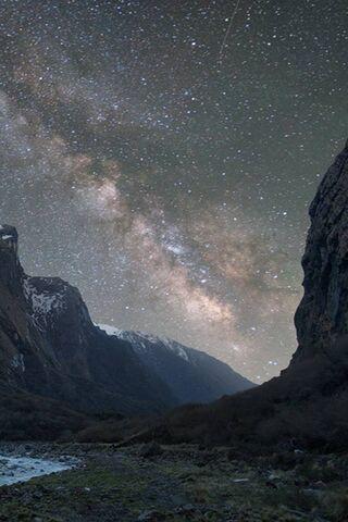 Mountain Night Milky