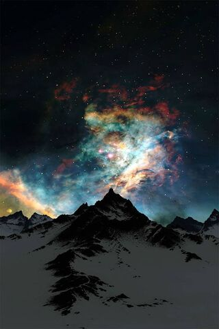Sky Night Mountain