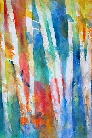 Fałszywy Kolor Drzewka Kokosowe Iphone 6 Wallpaper 1 Picsay