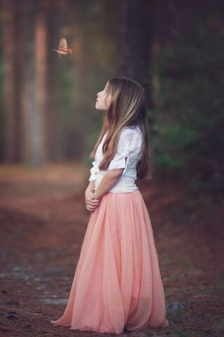 Girl In Forest