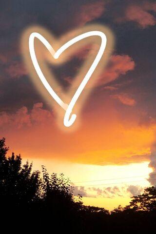 Coucher de soleil amour