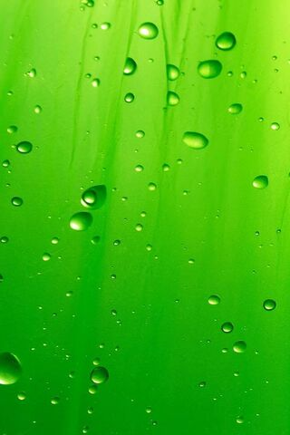 Green Water Droplets