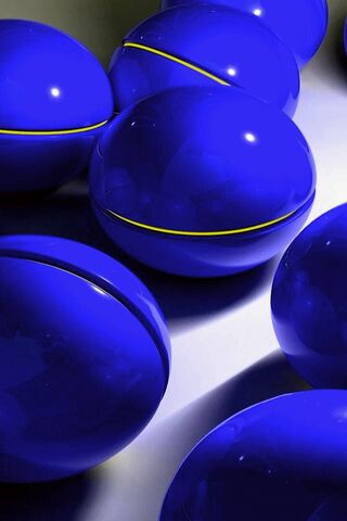 নীল Orbs