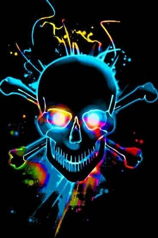 Neon Skull N Bones