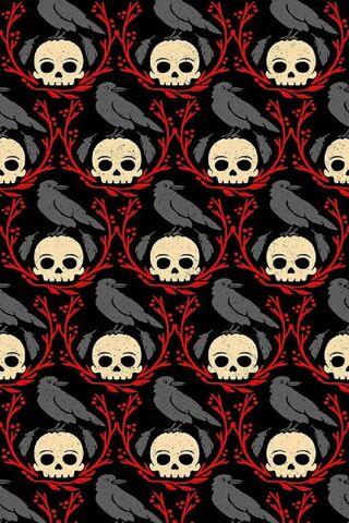 Tengkorak Dan Burung Gagak Wallpaper Muat Turun Ke Telefon Bimbit Anda Dari Phoneky