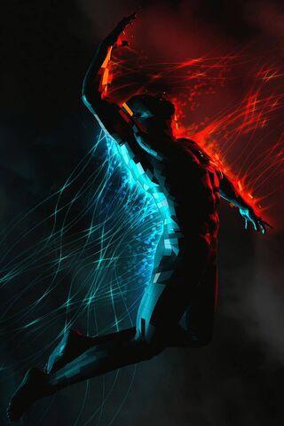 Homme Bleu Rouge Fond D Ecran Telecharger Sur Votre Mobile Depuis Phoneky