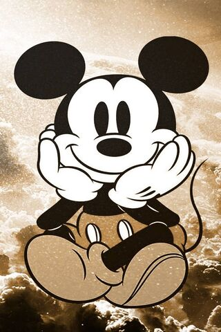Gold Mickey Mouse