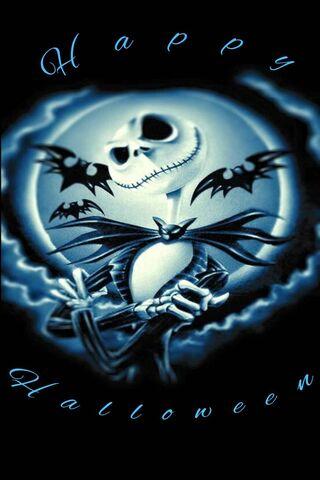 Blauer Halloween Jack