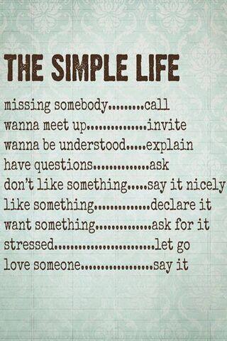 حياة بسيطة