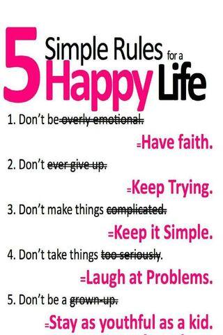 Happy Life Rules