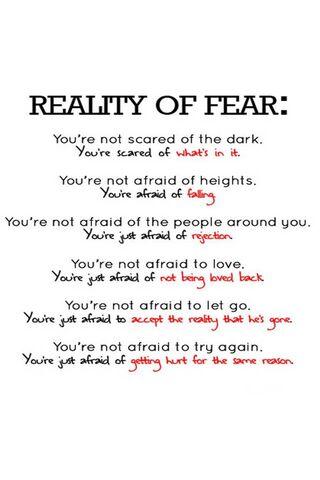 भय की वास्तविकता