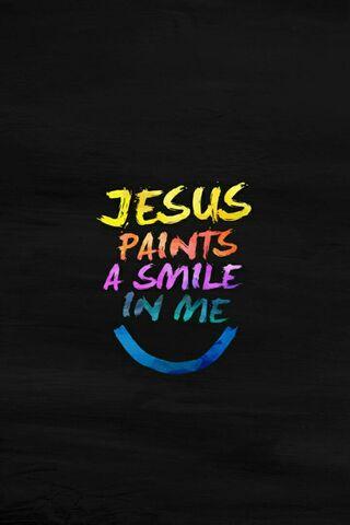 Иисус рисует улыбку