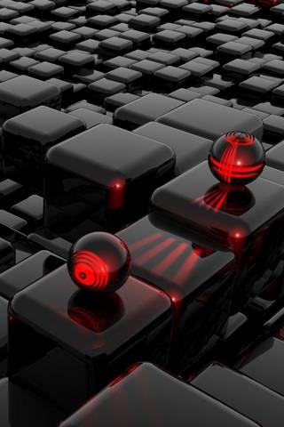 3D Red Ba11s