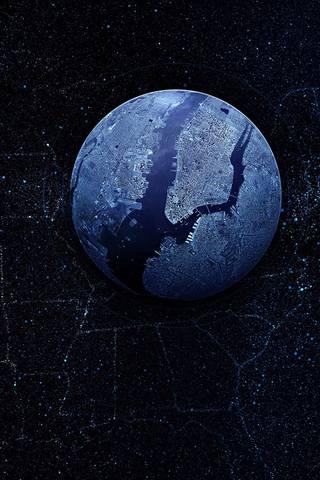 Lumières de globe terrestre